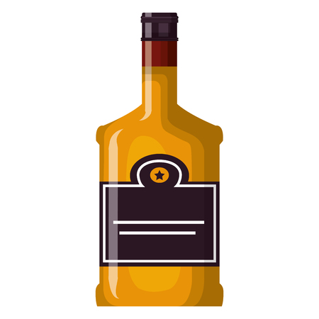 whiskey bottle drink icon vector illustration design 版權商用圖片 - 106902431