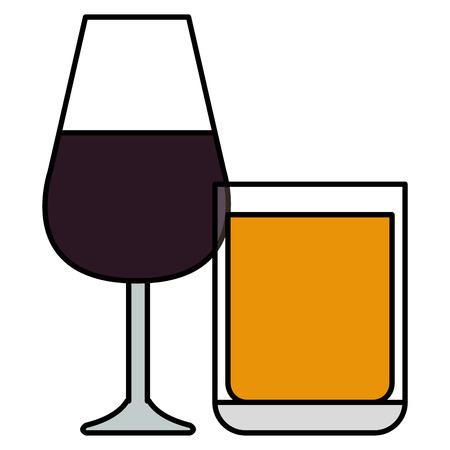 wine cup glass icon vector illustration design Çizim