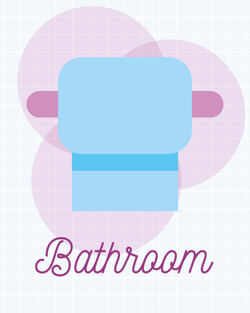 toilet paper roll clean cartoon bathroom vector illustration Archivio Fotografico - 111735877