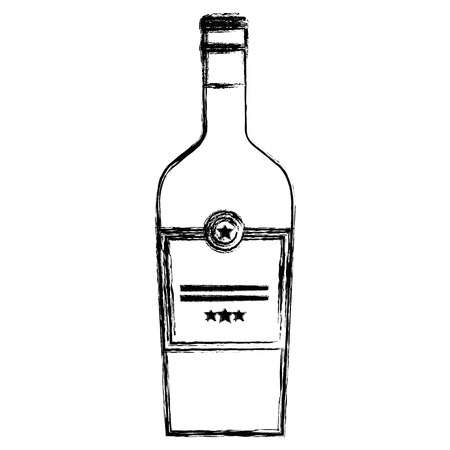 wine bottle drink icon vector illustration design 일러스트