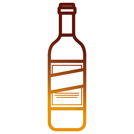 wine bottle drink icon vector illustration design Ilustração