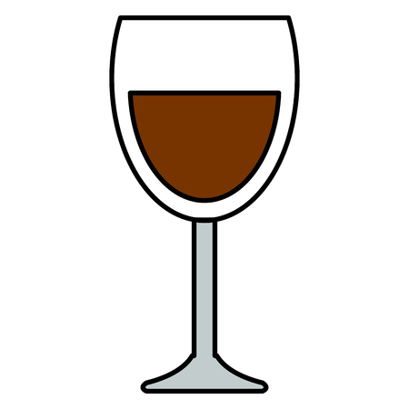 wine cup glass icon vector illustration design Иллюстрация