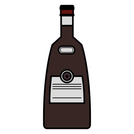 whiskey bottle drink icon vector illustration design