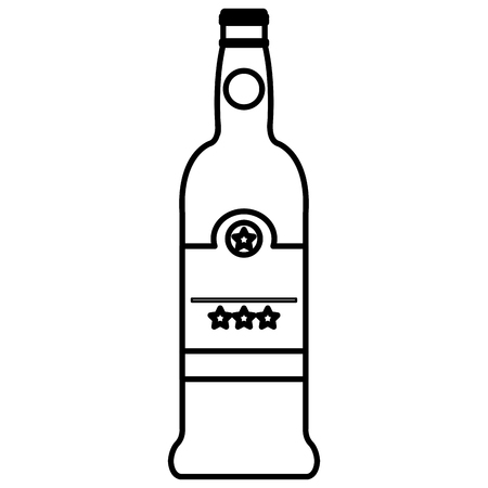 wine bottle drink icon vector illustration design Stock Vector - 106903296
