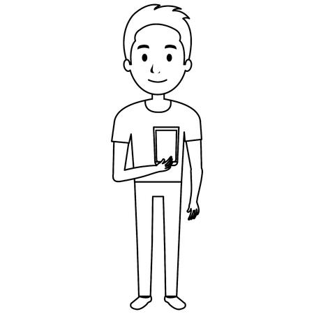 man with whiskey glass drink vector illustration design Illustration
