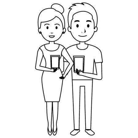 couple with whiskey glass characters vector illustration design Stock Vector - 106903373