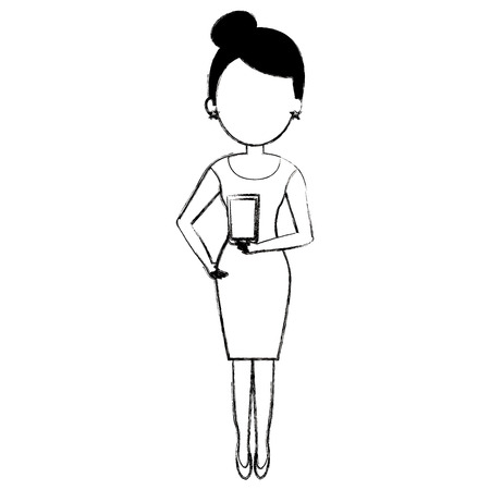 woman with whiskey glass drink vector illustration design  イラスト・ベクター素材