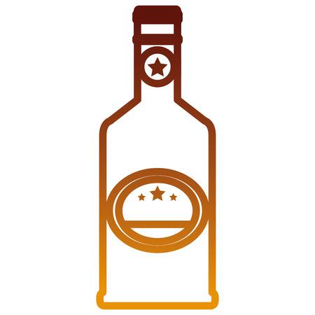 wine bottle drink icon vector illustration design Illustration