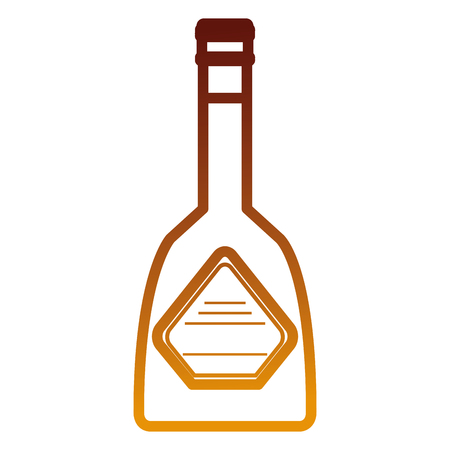 butelka whisky pić ikona wektor ilustracja projekt