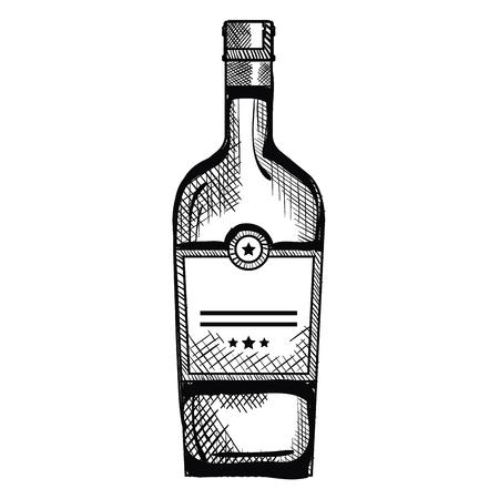 wine bottle drink icon vector illustration design Ilustração