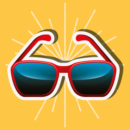 sunglasses accessory fashion object icon vector illustration Ilustracja