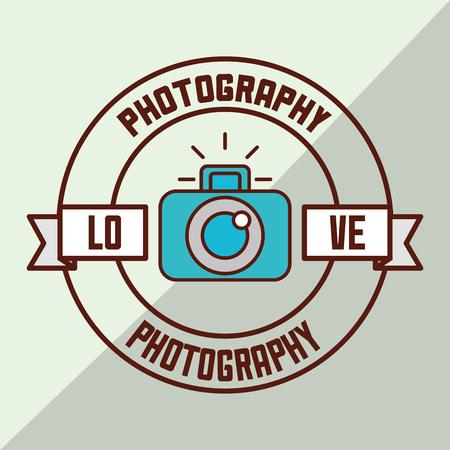 photography design sticker love camera photos vector illustration Illustration