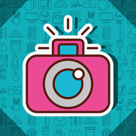 graphic design camera focus photo vector illustration Illustration