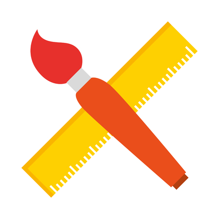 school rule with paint brush vector illustration design