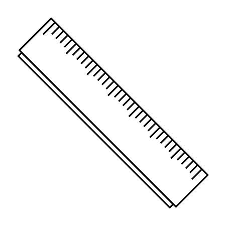 Regla de la escuela, diseño de ilustraciones vectoriales icono aislado