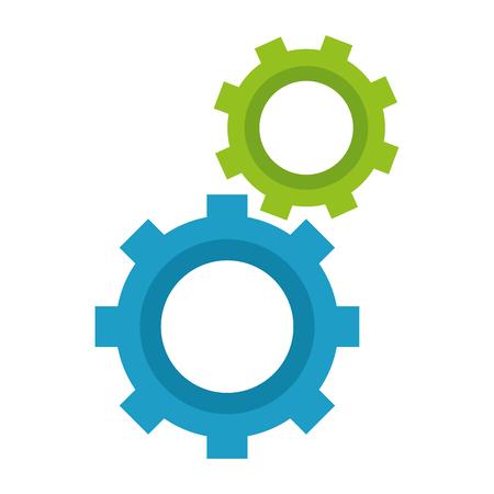 koła zębate maszyny na białym tle ikona wektor ilustracja projekt