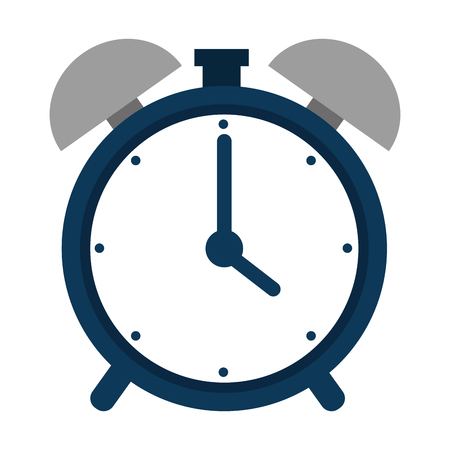 alarm time clock isolated icon vector illustration design Illustration