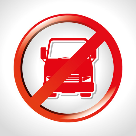 prohibited truck transit road vector illustration eps 10 Illustration