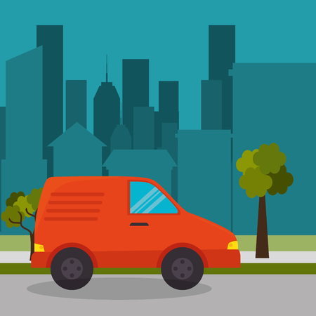 suburban cab service town design vector illustration eps 10 Illustration