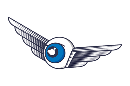 eye with wings icon vector illustration design Ilustracja