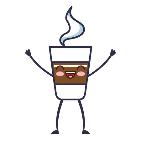 delicious coffee kawaii character vector illustration design Illustration