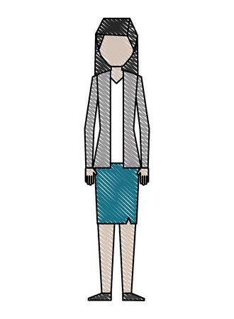 businesswoman elegant avatar character vector illustration design