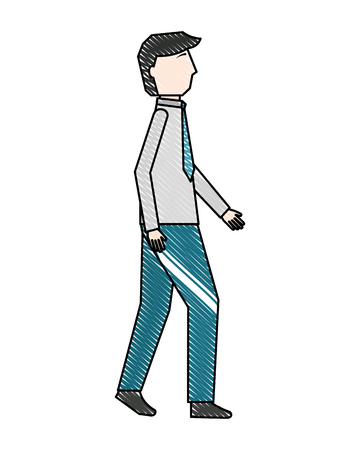 businessman elegant avatar character vector illustration design Ilustração
