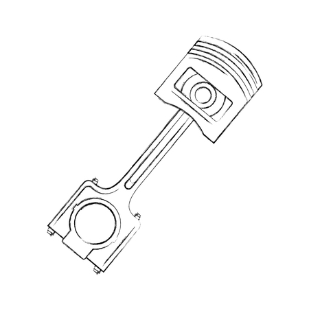 piston engine piece icon vector illustration design