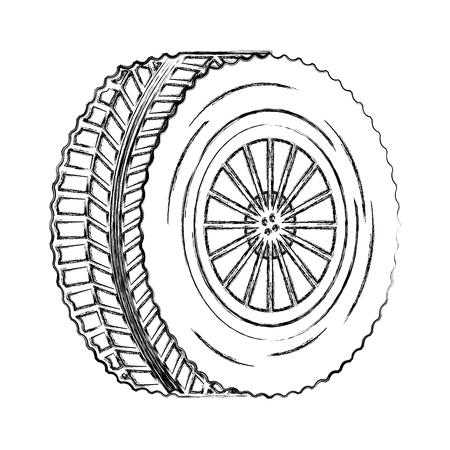 Reifen Rad Auto Symbol Vektor Illustration Design