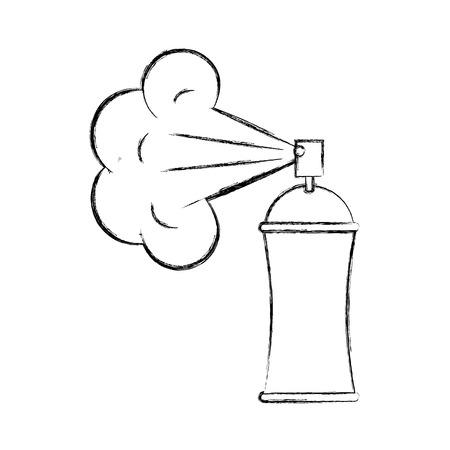 spray canister painting design creativity vector illustration hand drawing Illusztráció