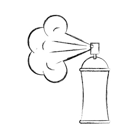 spray canister painting design creativity vector illustration hand drawing Illustration