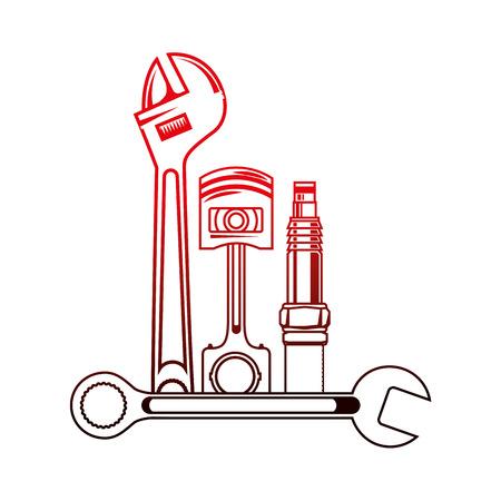 set mechanical tools icon vector illustration design