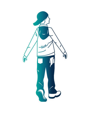 young man graffiti style vector illustration design