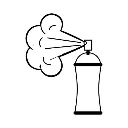 peinture en aérosol bouteille icône vector illustration design