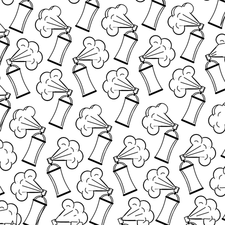 spray paint bottles pattern background vector illustration design Illustration