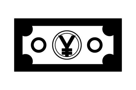 yen bill asian economy vector illustration design