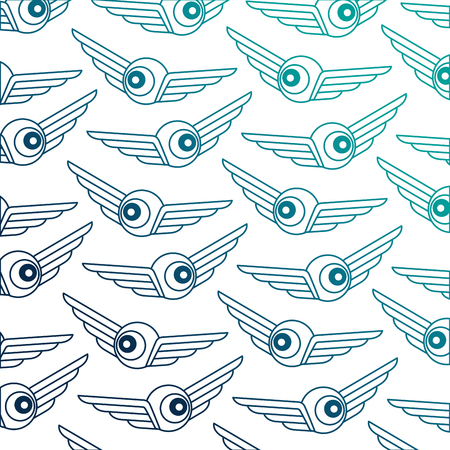 eye with wings pattern vector illustration design