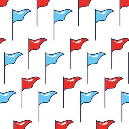 flags direction position location background pattern vector illustration 写真素材 - 111662597