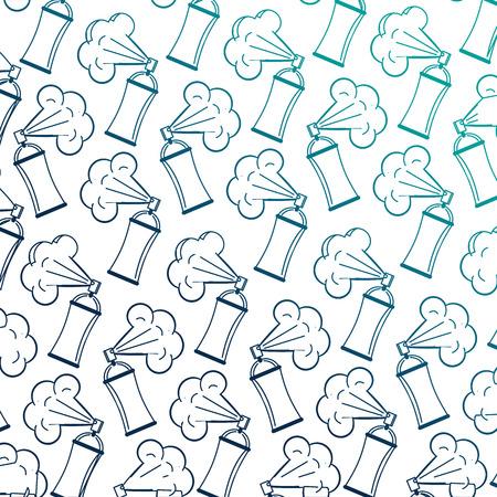 spray paint bottles pattern background vector illustration design