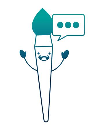 paint brush kawaii character vector illustration design Stock Illustratie