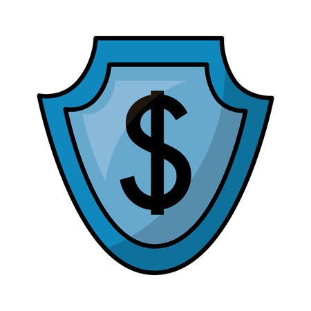 currency such as shield dollar symbol foreign exchange vector illustration