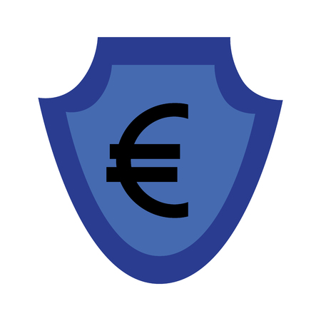 currency such as shield euro symbol foreign exchange vector illustration
