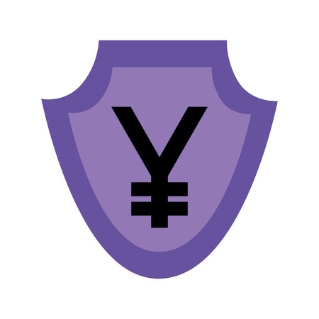 currency such as shield  yuan  symbol foreign exchange vector illustration Ilustração