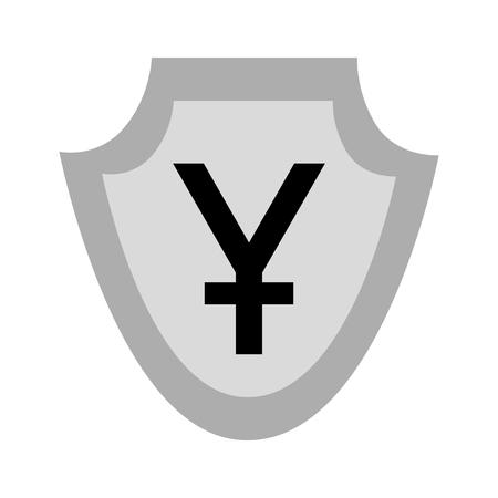 currency such as shield yuan symbol foreign exchange vector illustration