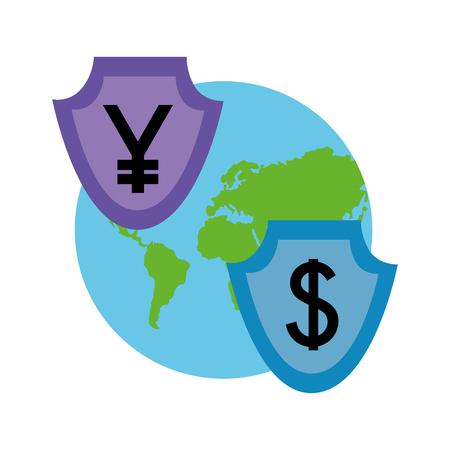 Ilustración de vector de progreso de progreso de negocios y monedas de divisas 100 por ciento Foto de archivo - 107025480