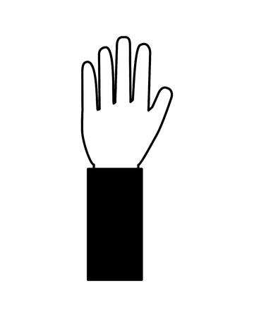 human hand showing five finger palm vector illustration Stock Vector - 111662747