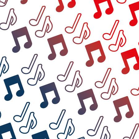 music note icon pattern vector illustration design Ilustração