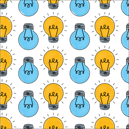 light bulb icon pattern vector illustration design Ilustração