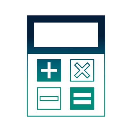 business calculator financial economy symbol vector illustration neon