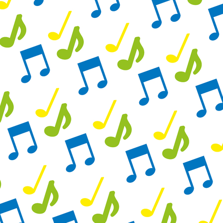 music note icon pattern vector illustration design  イラスト・ベクター素材